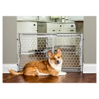 Carlson Pet Products plastic expandable gate w/ steel support rod - 23 inch, 4 ea