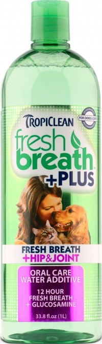 Tropiclean fresh breath + hip & joint water additive - 33.8 ounce, 12 ea