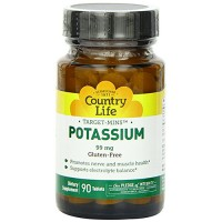 Potassium 99 mg by country life tablets - 90 ea