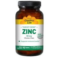 Zinc 50 mg by country life tablets - 90 ea