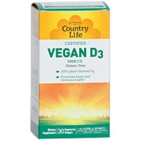 Country life vegan d3  5000 iu vegan softgels   -  30 ea