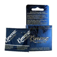 Kimono MicroThin Lubricated Latex Condoms - 3 Ea