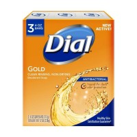 Dial Clean and Refresh Antibacterial Deodorant Bar Soap, Gold - 4 oz, 3 pack
