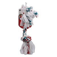 Mammoth Pet Products flossy chews color rope bone dog toy - 14 inch/large, 84 ea