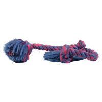 Mammoth Pet Products flossy chews color 3 knot rope tug dog toy - 36 inch/xlarge, 30 ea