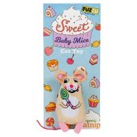 Fuzzu Llc sweet baby mice lolli mouse cat toy - medium, 72 ea