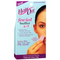 Hair off facial buffer stripes, 3 in 1 - 3 oz