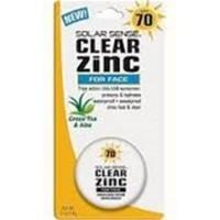 Solar Sense Clear Zinc Sunscreen For Face and Lips, 70 SPF - 0.5 Oz