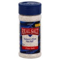 Real Salt Natures First Sea Salt Shaker, Fine - 10 oz, 12 pack
