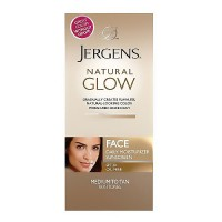 Jergens Natural Glow Healthy Complexion Daily Facial Moisturizer, Medium to Tan Skin - 2 Oz