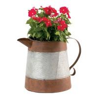 Deer Park Ironworks corrugated pitcher planter - 4 ea