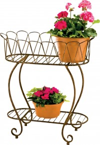 Deer Park Ironworks medium oval wave planter - medium, 4 ea