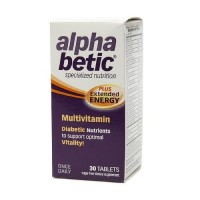 Alpha betic multivitamin plus extended energy tablets - 30 ea