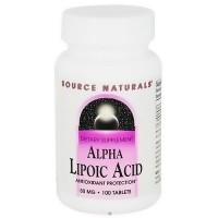 Source Naturals Alpha lipoic acid antioxidant protection 50 mg tablets - 100 ea