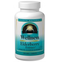 Source Naturals Wellness elderberry extract 500 mg tablets - 30 ea