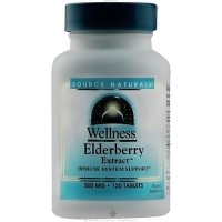 Source Naturals Wellness Elderberry extract 500 mg tablets - 120 ea