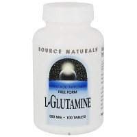 Source Naturals L-Glutamine 500 mg tablets - 100 ea