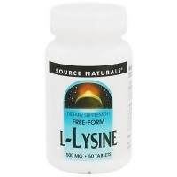 Source Naturals L-Lysine 500 mg tablets - 50 ea