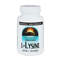 Source Naturals L-Lysine 500 mg tablets - 100 ea