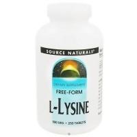 Source Naturals L-Lysine 500 mg tablets - 250 ea