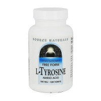 L-Tyrosine 500 mg free form amino acid dietary supplement tablets, 100 ea
