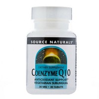 Source Naturals Coenzyme Q10 vegetarian sublingual 30 mg tablets - 30 ea