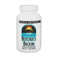 Source Naturals Butcher broom 500 mg tablets - 250 ea