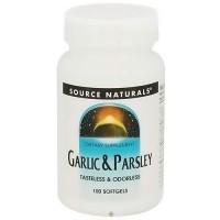Source Naturals Garlic and Parsley softgels - 100 ea