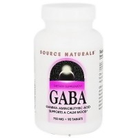 Source Naturals GABA Gamma Aminobutyric Acid 750 mg Tablets - 90 ea