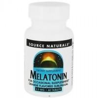 Source Naturals Melatonin 2.5 mg, Orange - 60 Sublingual Tablets