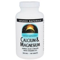 Source Naturals Calcium/Magnesium Chelate 300mg - 100 Tablets