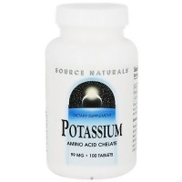 Source Naturals Potassium amino acid chelate 99 mg tablets - 100 ea