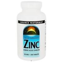 Source Naturals Zinc chelate 50 mg tablets - 250 ea