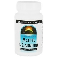 Source Naturals Acetyl L-carnitine 250 mg tablets - 120 ea