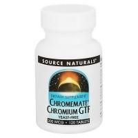 Source Naturals Chromemate Chromium GTF 200 mcg yeast free tablets - 120 ea