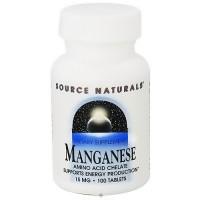 Source Naturals Manganese amino acid chelate 10 mg tablets - 100 ea