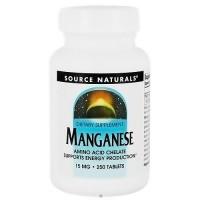 Source Naturals Manganese chelate 15 mg tablets - 250 ea