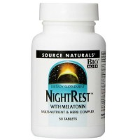 Source Naturals Night Rest with Melatonin Tablets - 50 ea