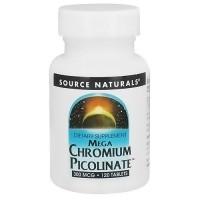 Source Naturals Mega Chromium Picolinate 300 mcg tablets - 120 ea