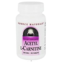 Source Naturals Acetyl L-carnitine 250 mg tablets - 90 ea