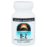 Source Naturals Vitamin B-2 riboflavin 100 mg tablets - 100 ea