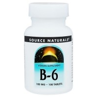Source Naturals Vitamin B-6 100 mg tablets - 100 ea