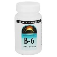 Source Naturals Vitamin B-6 100 mg tablets - 250 ea