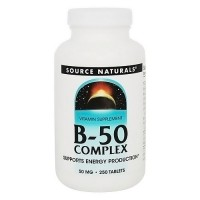 Source Naturals B-50 complex 50 mg tablets - 250 ea