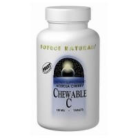 Source Naturals Acerola cherry chewable C 500 mg tablets - 100 ea