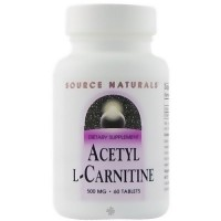 Source Naturals acetyl L carnitine 500 mg tablets - 60 ea