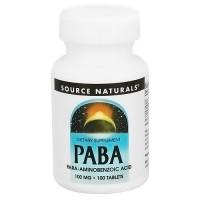 Source Naturals PABA 100 mg tablets - 100 ea