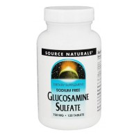 Source Naturals Glucosamine sulfate 750 mg tablets - 120 ea