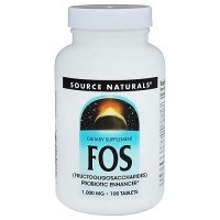 Source Naturals FOS 1000 mg tablets - 100 ea