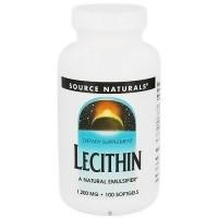 Source Naturals Lecithin 1200mg  Natural Emulsifier - 100 ea